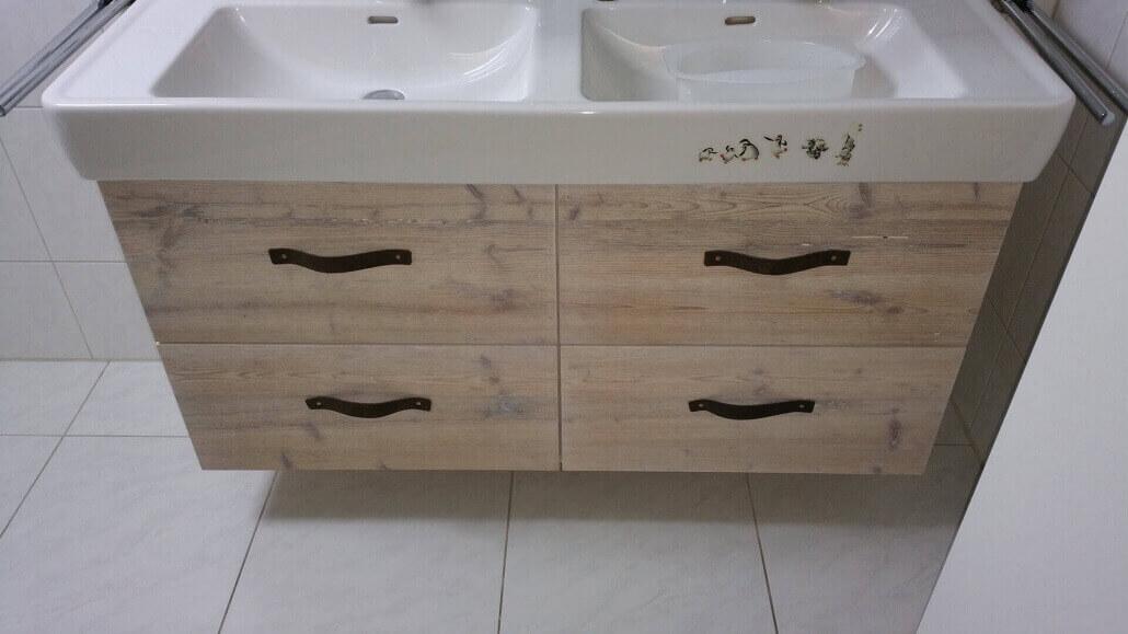Waschbecken vintage doppelt   Badmöbel   Schreinerei Heer