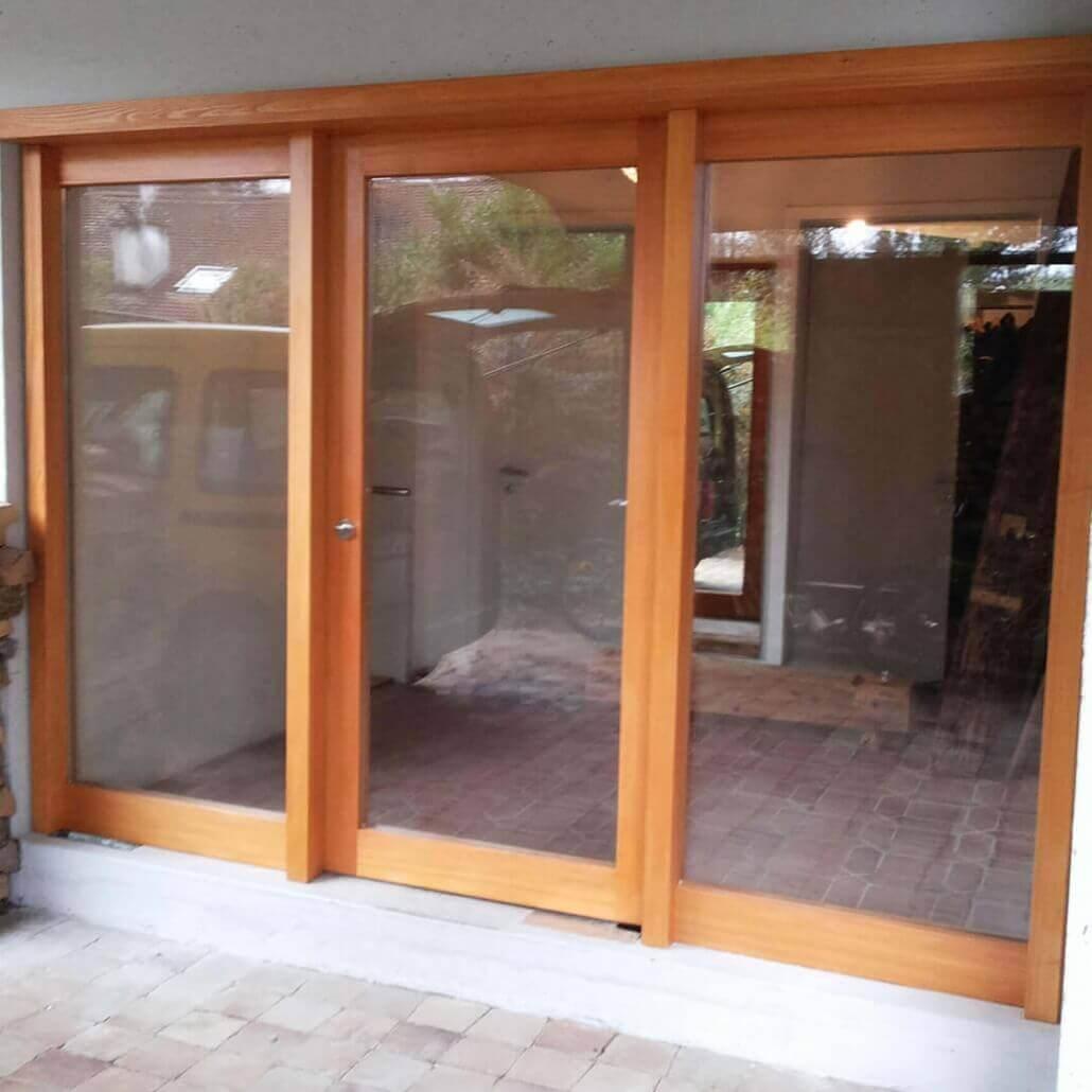große Haustür mit drei Glasflächen | Schreinerei Heer
