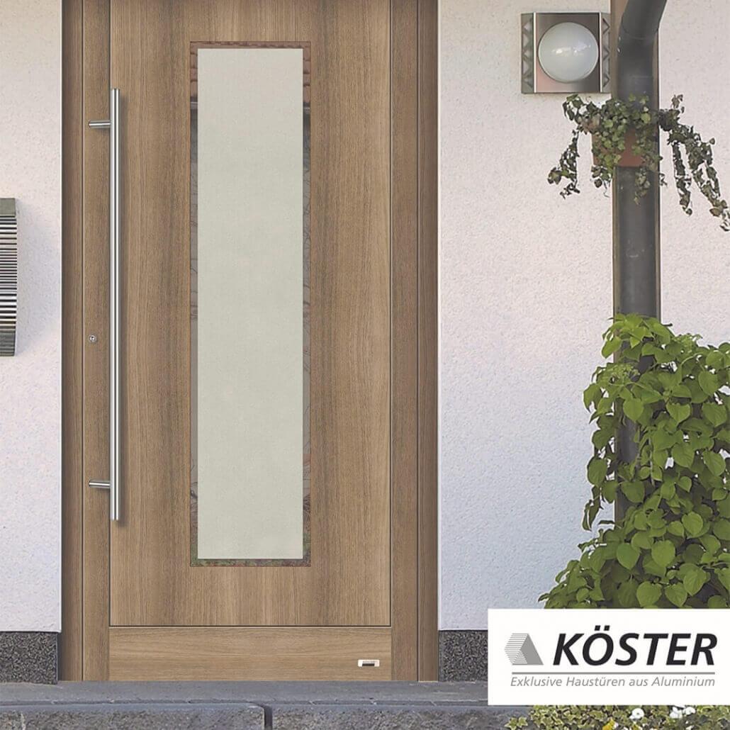 holzfarbene Haustür Decor von Köster | Schreinerei Heer